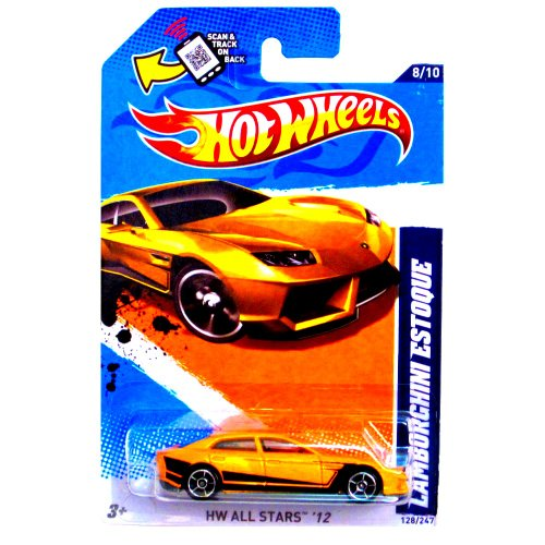 Hot Wheels Lamborghini Estoque (Yellow) (HW All Stars '12) #128/247 Collectible Die-cast 1:64 Scale Model
