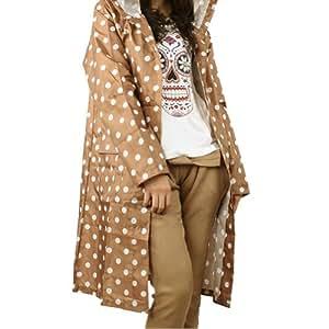 Amazon.com : Waterproof Women's Stylish Slim Longer Polka Dot Raincoat