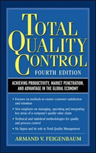 Total Quality Control, 4th Ed.: Achieving Productivity, Market Penetration, and Advantage in the Global Economy