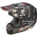 Fly Racing Kinetic Dash Adult MX Motorcycle Helmet - Matte Black/Silver / Large