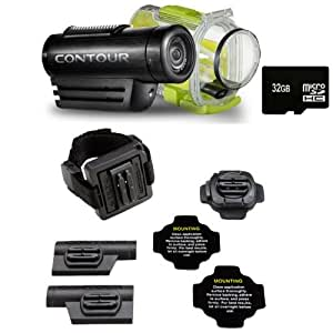 ContourROAM Hands-free Waterproof Camcorder + 32GB Ultra High Speed Memory Bundle