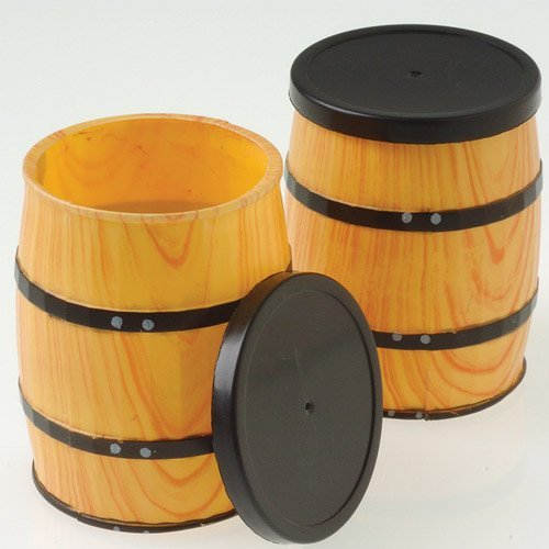 Dozen Mini Western Theme Barrel Containers
