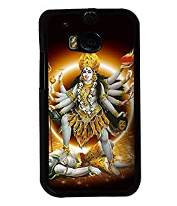 Fuson Premium Maa Kaali Metal Printed with Hard Plastic Back Case Cover for HTC One M8
