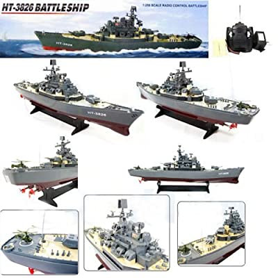"23"" Ht Radio Control Rc Battle Warship Boat Cruiser Destroyer"