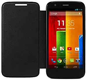 Motorola Flip Shell for Moto G - Retail Packaging - Black (1st Generation Only)