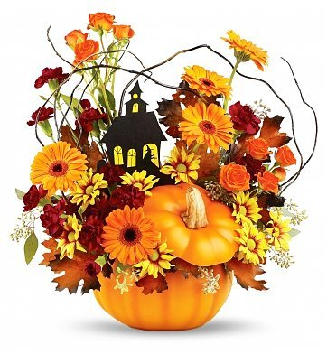 Halloween Flowers – Bouquet on Haunted Hill