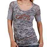 NBA Touch by Alyssa Milano Cleveland Cavaliers Gray Super Fan Sublimated Sheer Burnout Premium T-shirt (Medium) Amazon.com