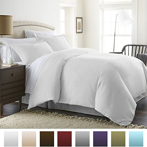 Beckham Luxury Linens Soft Brushed Hypoallergenic Microfiber 3-Piece King/Cal King Duvet Cover Set, White (Allergy Duvet Cover King compare prices)