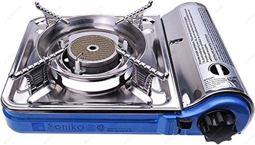 M.V. Trading Co NS7000C/BL Soniko Portable Gas Stove with Infrared Technology Ceramic Burner, Mini, Blue (Mini Gas Stove compare prices)