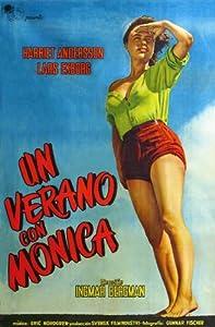 Monika, the Story of a Bad Girl Movie Poster (11 x 17 Inches - 28cm x 44cm) (1953) Argentine Style A -(Harriet Andersson)(Lars Ekborg)(Dagmar Ebbesen)(Åke Fridell)(Naemi Briese)(Åke Grönberg)