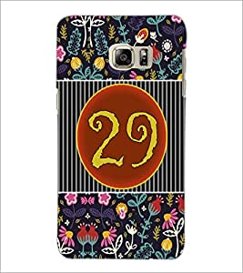 PrintDhaba Numerology Number 29 D-3118 Back Case Cover for SAMSUNG GALAXY NOTE 5 EDGE (Multi-Coloured)