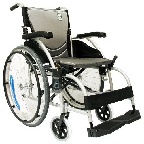 Karman Healthcare S-105 Ergonomic Ultra Lightweight Manual Wheelchair, Pearl Silver, 16 Inches Seat Width