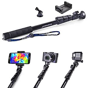 xcsource adjustable self lock extendable pole selfie stick camera photo. Black Bedroom Furniture Sets. Home Design Ideas