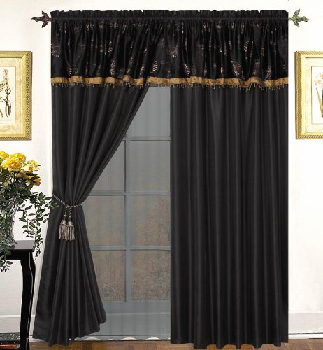 Sheer curtains with attached valance