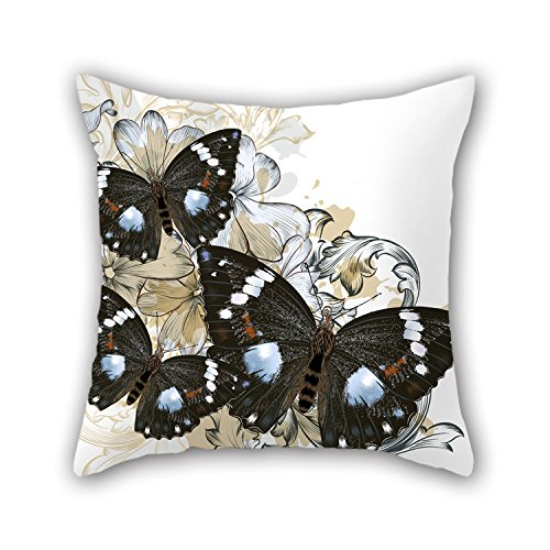 NICEPLW 16 X 16 Inches / 40 By 40 Cm Butterfly Throw Pillow Covers,double Sides Is Fit For Bench,home Theater,festival,gril Friend,lounge (Camp Neoprene Seat Covers compare prices)