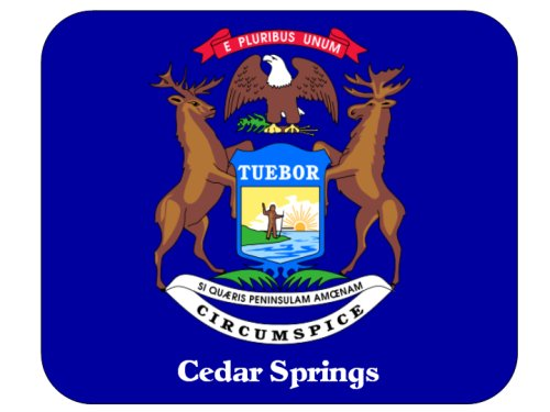 Cedar Springs Michigan Mouspad