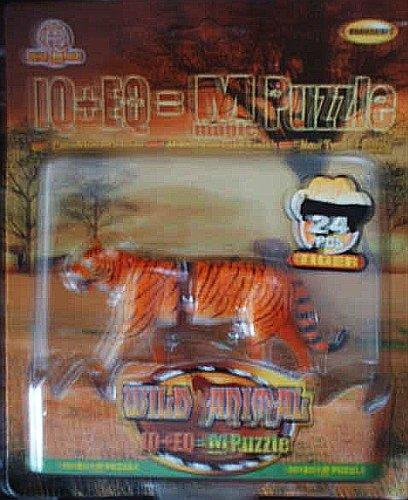 Picture of Horoscope Tiger 3-Dimensional Puzzle - IQ+EQ=M(magic) Puzzle Wild Animal (24 Pcs) (B0015433AY) (3D Puzzles)