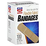 Rite Aid Pharmacy Bandages, Flexible Fabric, All One Size, 100 bandages