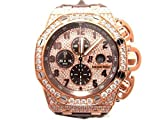 [オーデマ・ピゲ] AUDEMARS PIGUET オフショア クロノ フルダイヤ ウォッチ 腕時計 K18PG(ピンクゴールド)×レザーベルト 26215OR.ZZ.A801CR.01 [並行輸入品]