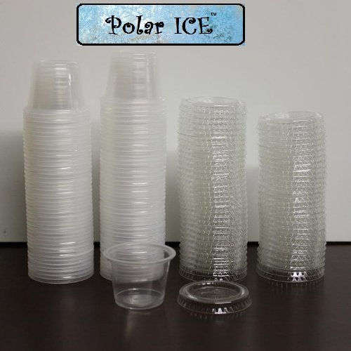 Polar Ice 125 Count Jello Shot Souffle Cups and Lids, 1-Ounce, Translucent (1 Oz Plastic Cups compare prices)