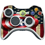 > > > Decal Sticker < < < Old Style American Flag With Captain America Shield Design Print Image Xbox 360 Wireless Controller Vinyl Decal Sticker Skin By Trendy Accessories