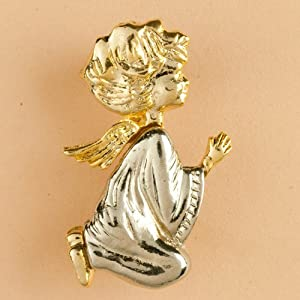 Angel Brooch - Praying Cherub