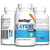 Premium Super L Lysine - 500mg Amino Acid Capsules for Cold Sore Care, Shingles, Immune Support & More - 200 Capsules Per Bottle