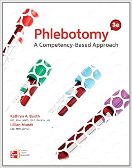 Phlebotomy list of educational subjects