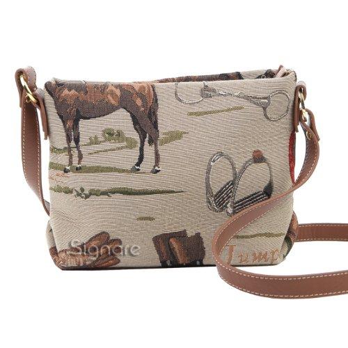 Borsetta donna Signare alla moda in tessuto stile arazzo a spalla borsa messenger a tracolla Cavallo