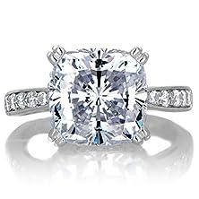 buy Radiant 5 Carat Cushion Cut Cz Engagement Ring