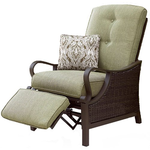 Hanover VENTURAREC Ventura Indoor/Outdoor Recliner with Accent Pillow photo