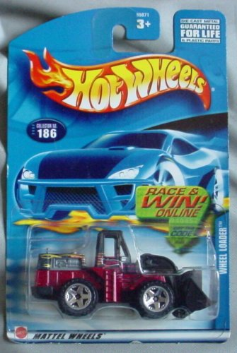 Hot Wheels 2002 Wheel Loader #186 RED Front End Loader - 1