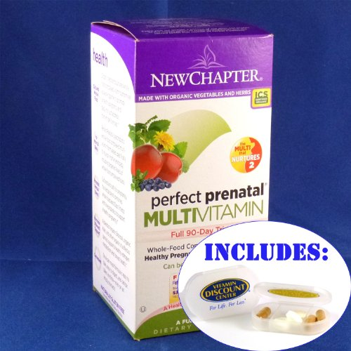 Combo Pack Perfect Prenatal By New Chapter - 192 Tablets With Pill Box