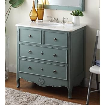 vintage bathroom vanity cabinet retro sink cabinets cottage model mint blue