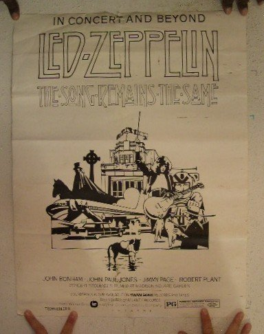 Led Zeppelin Concert Poster In Concert And Beyond The Song Remains The Same