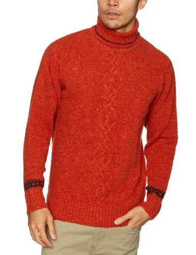 Alan Paine Marlow Centre Cable Men's Jumper Clare/Caragh C46IN
