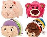 Mini Tsum Tsum Plush Set: Buzz, Woody, Lotso and Hamm From Toy Story