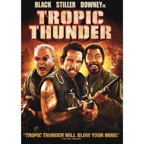 Tropic Thunder DVD Box Cover