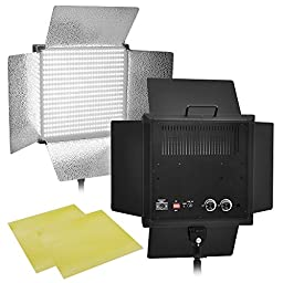 2x Pro Light Panel Photo Portrait Lighting w/ Dimmer Filter Video Studio 1008 LED