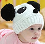 Susen 1pc Fashion Cute Baby Kids Girls Boys Stretchy Warm Winter Panda Cap Hat Beanie (White)
