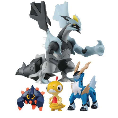 Image of Tomy T18332COM Pokémon 4 Figure Gift Pack Black Kyurem