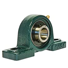 UCP204-12 Pillow Block Mounted Bearing, 2 Bolt, 3/4&#034; Inside Diameter, Set screw Lock, Cast Iron, Inch