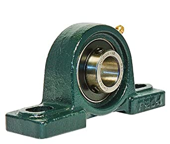"UCP204-12 Pillow Block Mounted Bearing, 2 Bolt, 3/4"" Inside Diameter, Set screw Lock, Cast Iron, Inch"