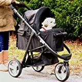 Gen7Pets Promenade Pet Stroller Midnight Black
