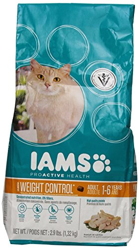 Iams Proactive Health Adult Weight Control Premium Cat Nutrition, 2.9 Pound