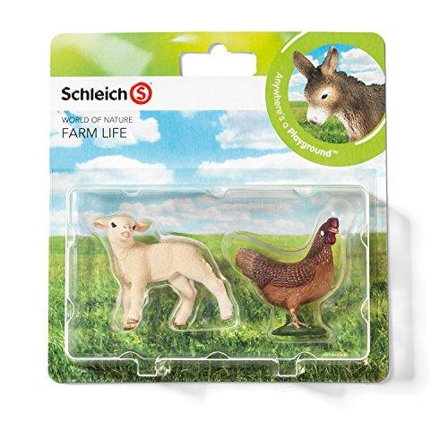 Schleich 21033 - Farm Life Babies, Wildtiere Spielset - Set 4