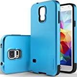 Galaxy S5 Case, Caseology [Dual Layer] Samsung Galaxy S5 Case [Electric Blue] Premium Slim Fit Protective Cover Impact Resistant Armor Rugged Hard Galaxy S5 Case (for Samsung Galaxy S5 Verizon, AT&T Sprint, T-mobile, Unlocked)