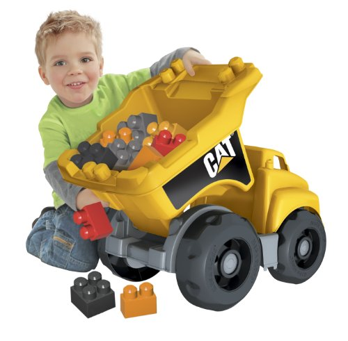 Cat Construction Toys For Toddlers : Mega bloks caterpillar large dump truck u cat