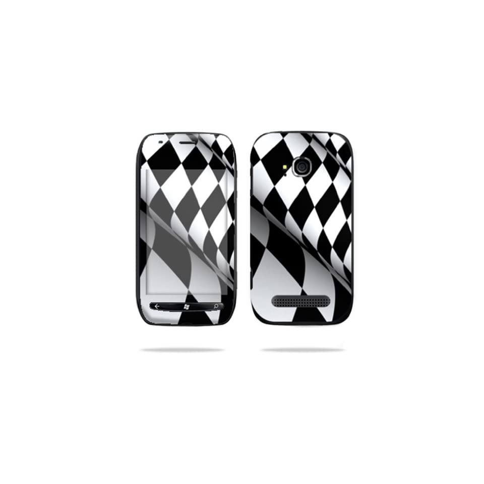 Protective Vinyl Skin Decal Cover for Nokia Lumia 710 4G Windows Phone T Mobile Cell Phone Sticker Skins Checkered Flag
