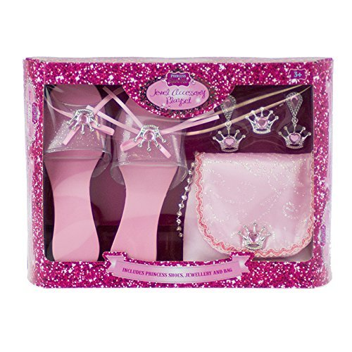 """pretty princess - Elegante set regalo, motivo """"principessa graziosa"""", composto da scarpe, borsa e gioielli, colore: Rosa"""
